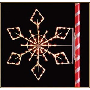 Silhouette Crystal Snowflake Pole Mount Decoration