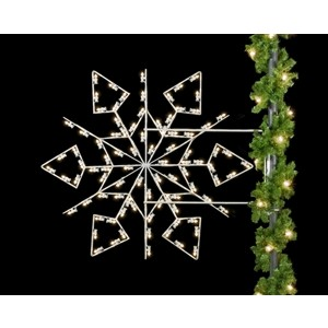 Winterfest Diamond Snowflake Light Pole Decoration
