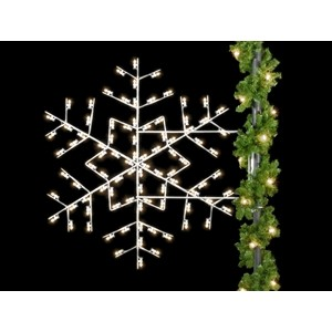 Winterfest Forked Snowflake Light Pole Decoration