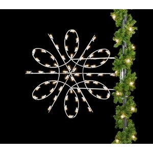 Spiral Snowflake Silhouette Pole Mount Decoration