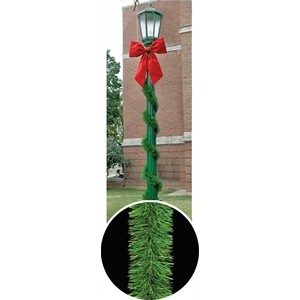 725 unbranched pine pole wraps - Light Pole Christmas Decorations