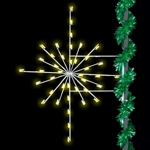 Golden Starburst Pole Mount Decoration