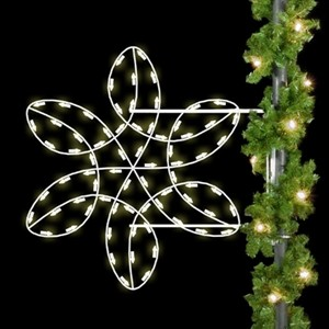 Winterfest Spiral Snowflake Pole Mount Decoration