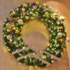 large custom Christmas wreath