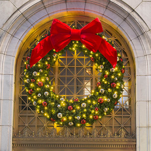 Large Outdoor Commercial Christmas Wreaths. ›