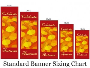 Standard Banner Sizing - Downtown Decorations