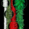 Colored Commercial Christmas Garlands