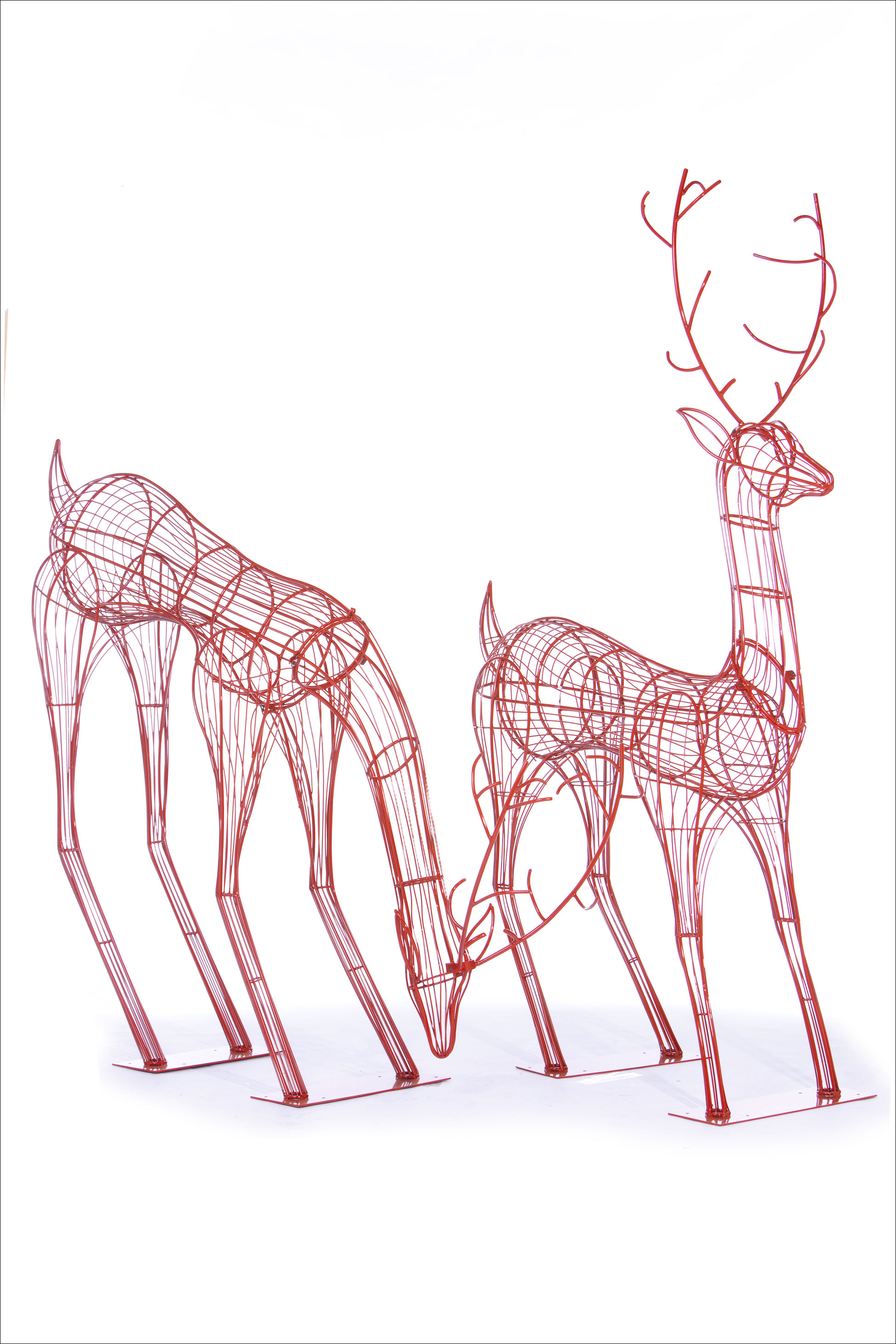 Wire Frame & Topiary Deer - Downtown Decorations