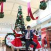 Shopping center holiday decor