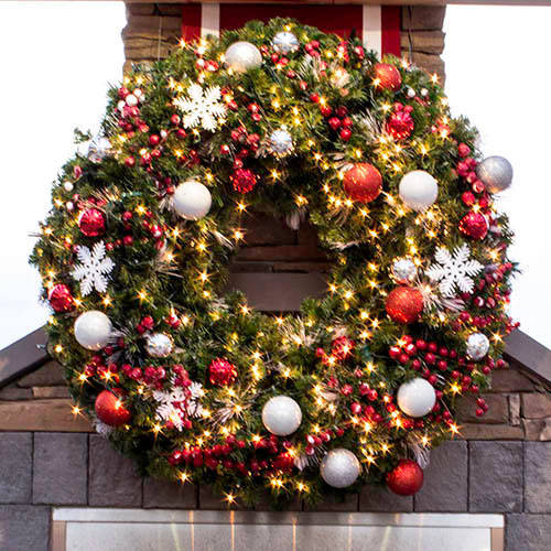 christmas wreaths garlands and sprays - Commercial Christmas Decorations